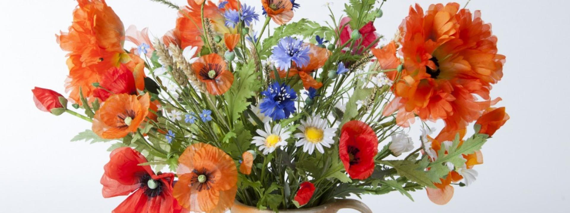 Blumenstrauss aus Kunstblumen aus Sebnitz