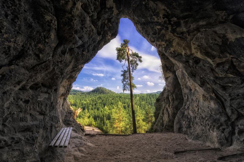 Höhle am Kleinstein (c) Bernd Grundmann / Tourismusverband Sächs. Schweiz