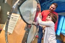 Ausstellung im NationalparkZentrum - hier ein Exponat der Entstehungsgeschichte