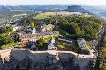 View from south to Königstein Fortress © Procopter / Festung Königstein gGmbH