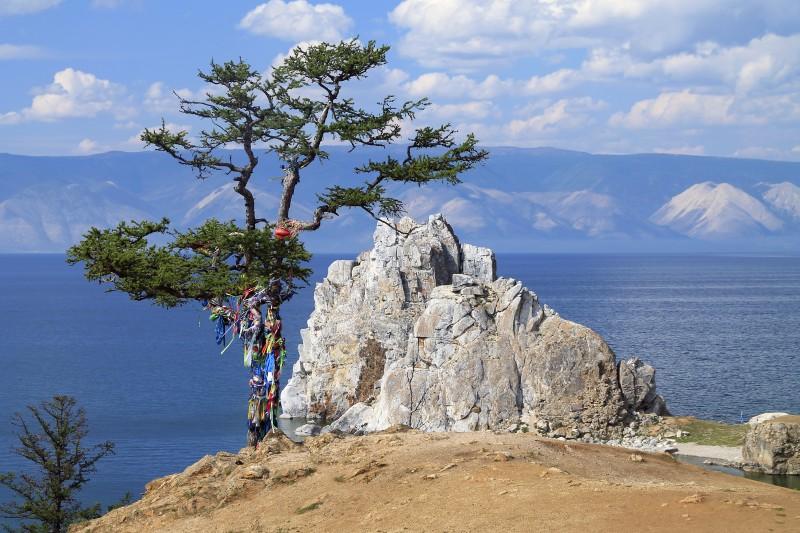 Schamanenfelsen - Markenzeichen des Baikalsees